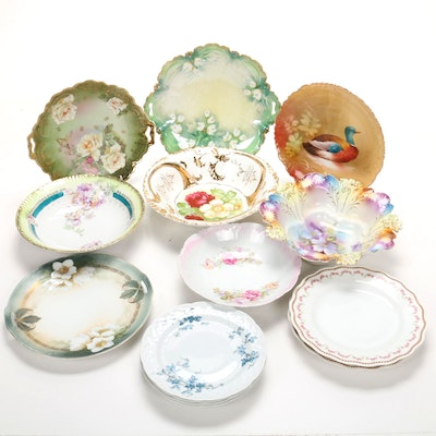 Hand-Painted German, Bavarian and French Porcelain