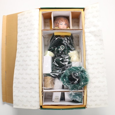 "Exclusively Yours ""Lily Marlane"" Porcelain Doll in Emerald Victorian Dress"