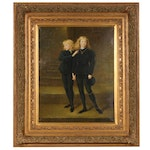 """Oil Painting after Sir John Millais """"The Princes in the Tower"""""""
