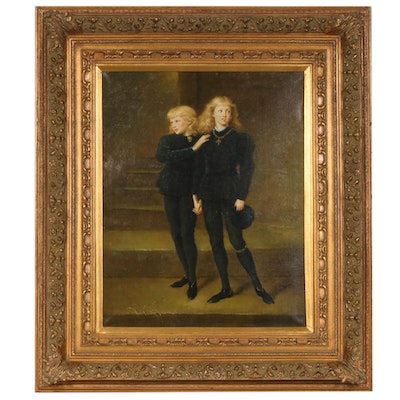 "Oil Painting after Sir John Millais ""The Princes in the Tower"""