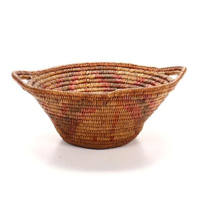 Apache Handwoven Handled Basket