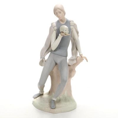 "Lladró Matte ""Hamlet"" Porcelain Figurine Designed by Antonio Ruiz"