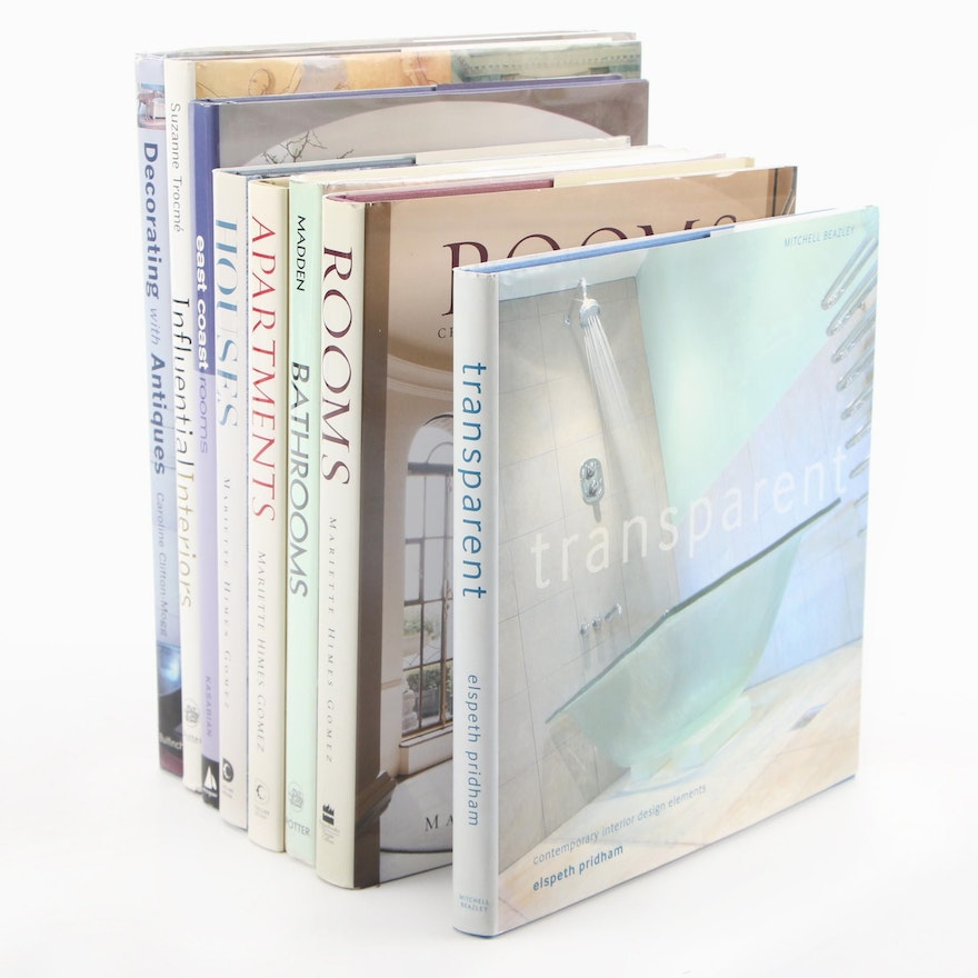 Interior Design and Decorating Books Including First Editions