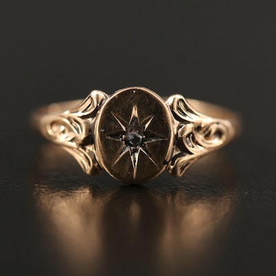 Victorian 10K Diamond Ring