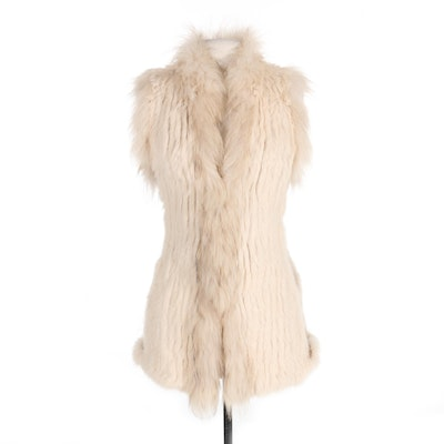 Graham & Spencer Rabbit and Raccoon Fur Vest