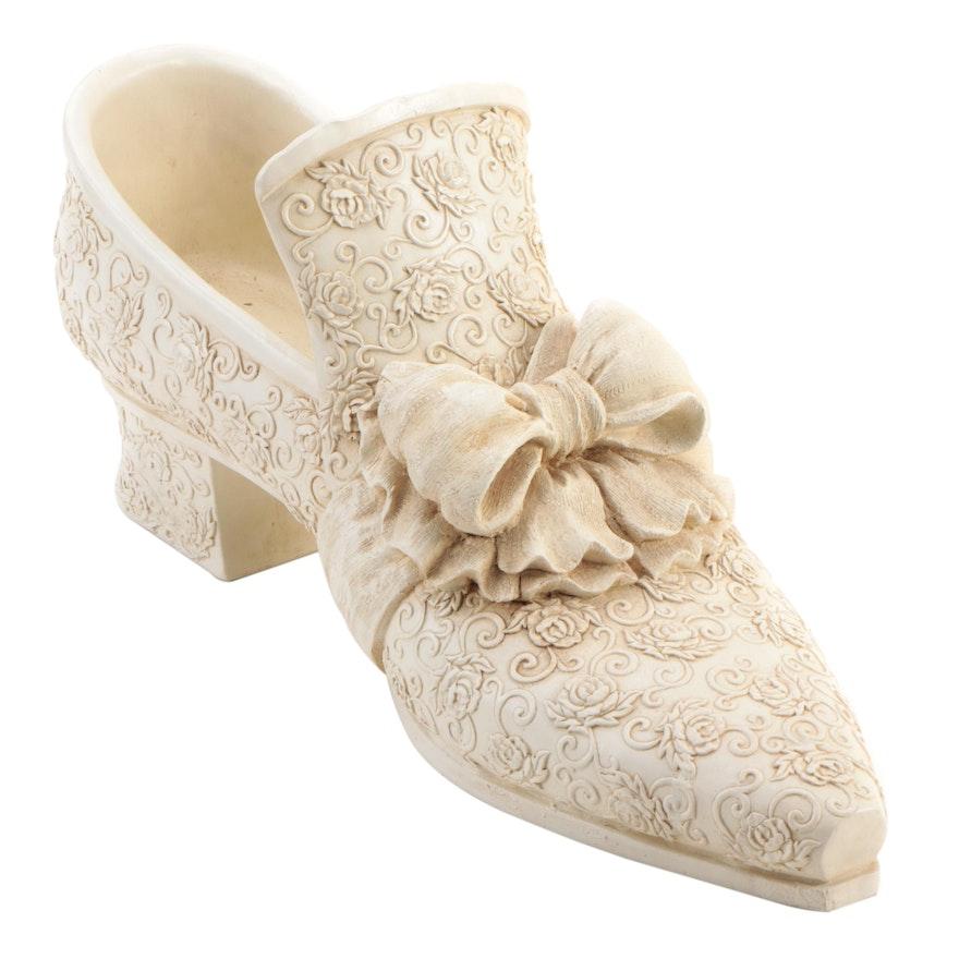 Woman's Dress Shoe Resin Figure, Late 20th Century