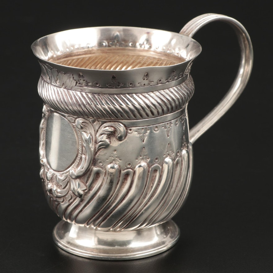 English Sterling Silver Baby Cup, 1893