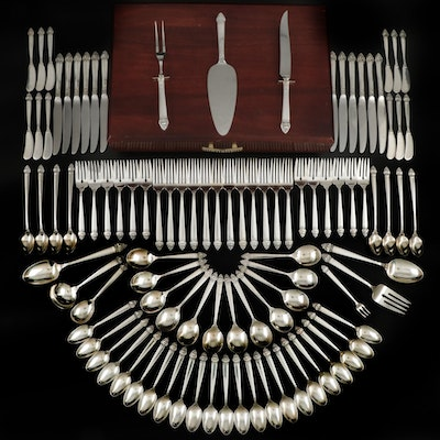 "Oneida ""King Cedric"" Sterling Silver Flatware and Serving Utensils"