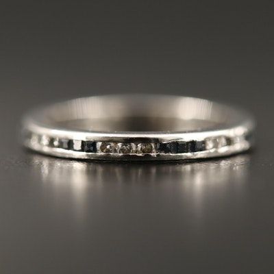 Vintage Diamond and Sapphire Eternity Ring