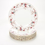 """Minton """"Ancestral"""" Bone China Dinner Plates, Mid to Late 20th Century"""