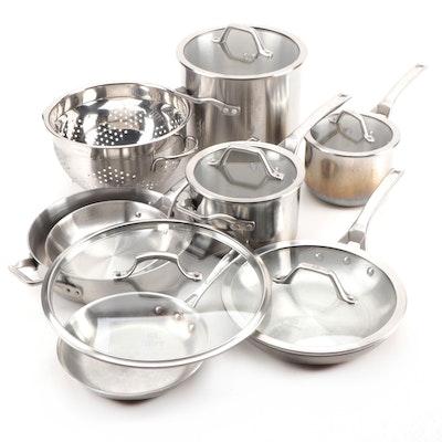 Calphalon Signature Pots, Pans, and Colander