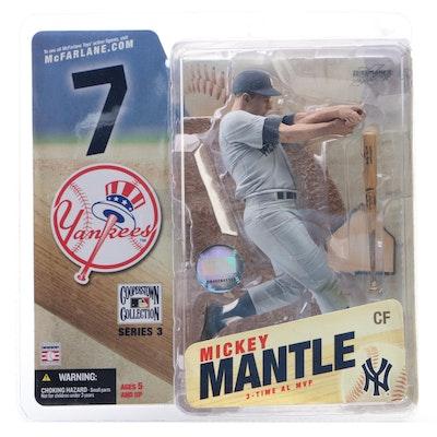 2006 Mickey Mantle New York Yankees McFarlane Action Figure Series 3