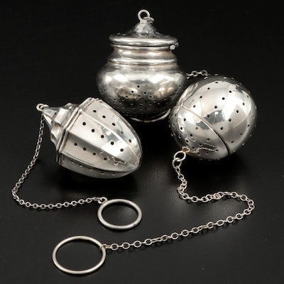 Reed & Barton and Other Sterling Silver Tea Infusers