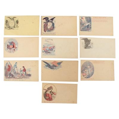 Civil War Era United States Patriotic Postal Covers, circa 1860