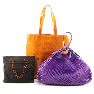 Tory Burch, Cole Haan and Ursele Beaugeste Tote Bags