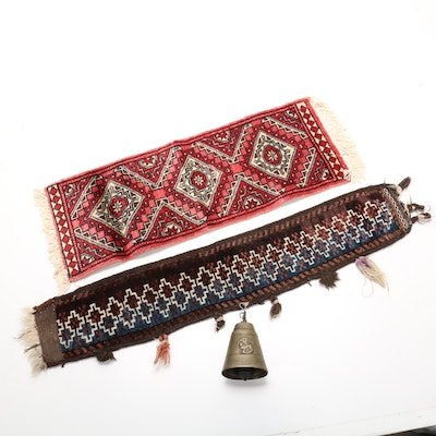 Hand-Knotted Persian Kashmir Accent Runner and Camel Decor