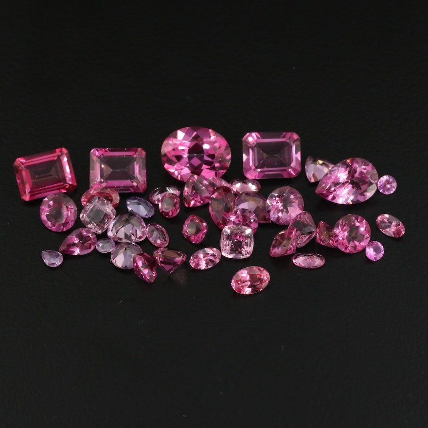 Loose 32.05 CTW Topaz and Spinel Selection