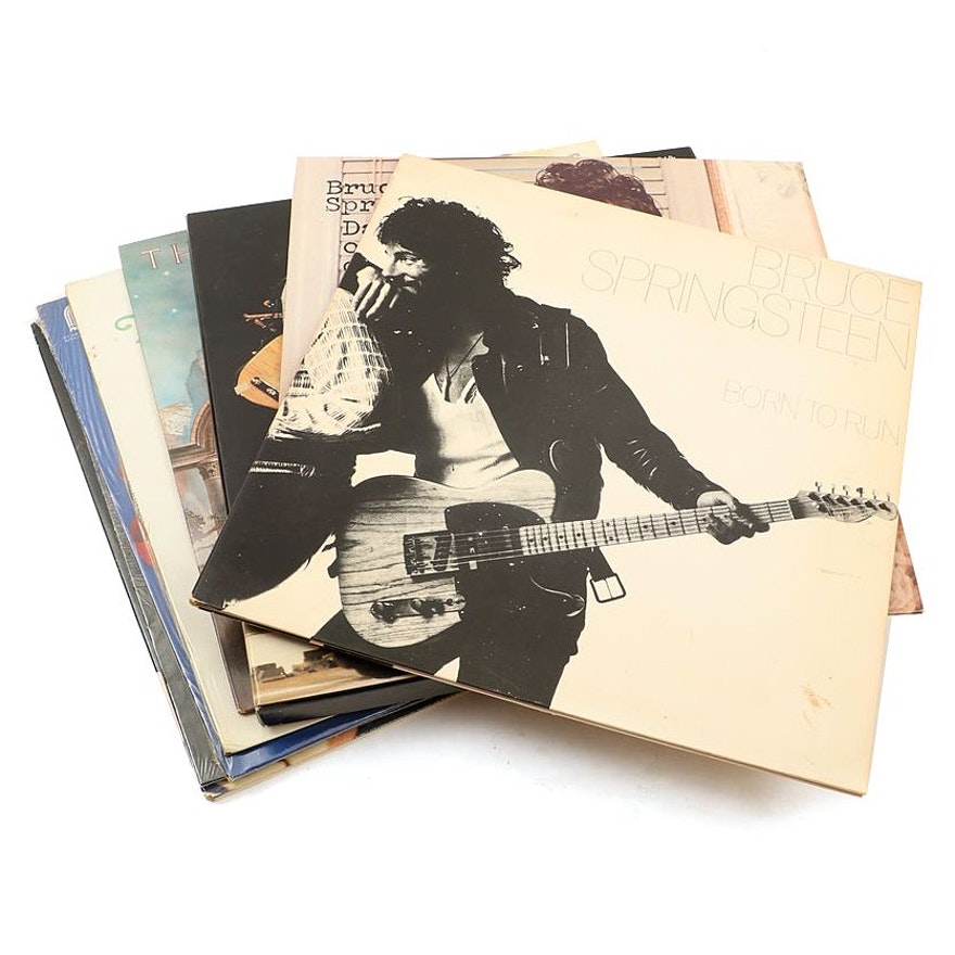 Record Albums Including Bruce Springsteen, Barbra Streisand, and Elvis Presley