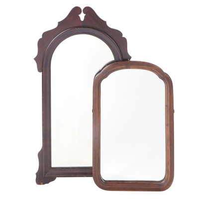 Walnut Wall Mirrors, Early to Mid 20th Century