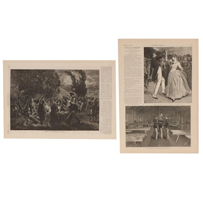 Harper's Weekly Etchings, 1877 and 1886