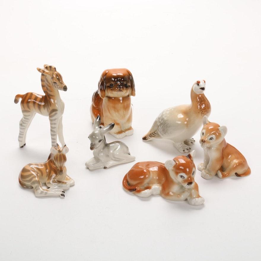Lomonosov Porcelain Animal Figurines