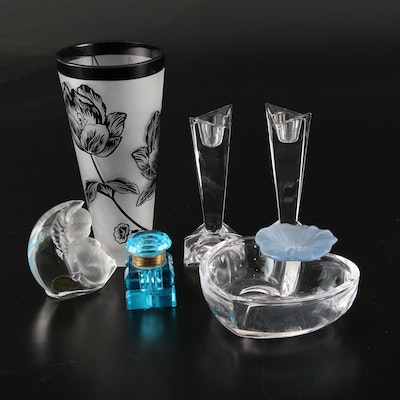 Rosenthal, Goebel, and Other Crystal and Glass Containers Including Murano