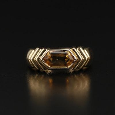 Bulgari 18K Citrine Ring