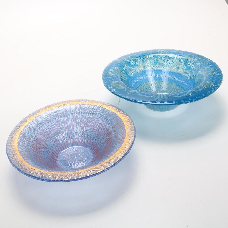 Higgins Art Glass Bowls, Signed
