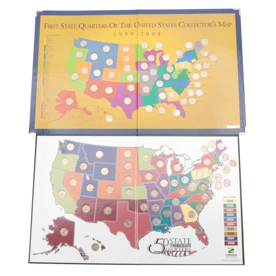 Commemorative State Quarters Collectors Maps