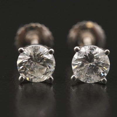 14K 1.13 CTW Diamond Stud Earrings