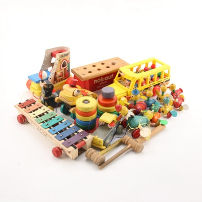 """Fisher Price, Playskool Toys Including """"Nok-Out Bench"""", """"School Bus"""" and More"""