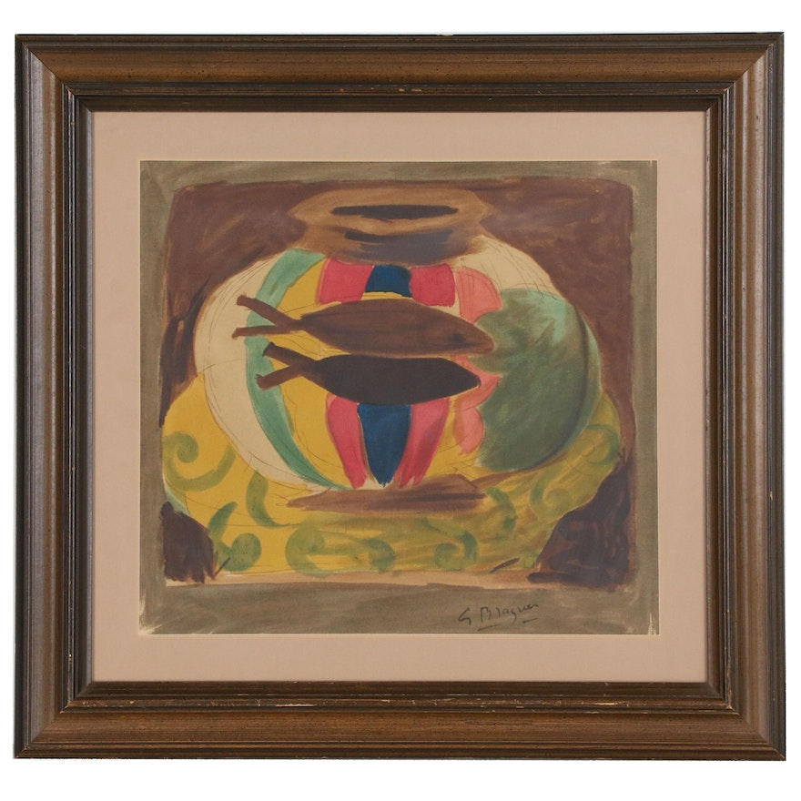 "Serigraph after Georges Braques ""The Fish Bowl"""