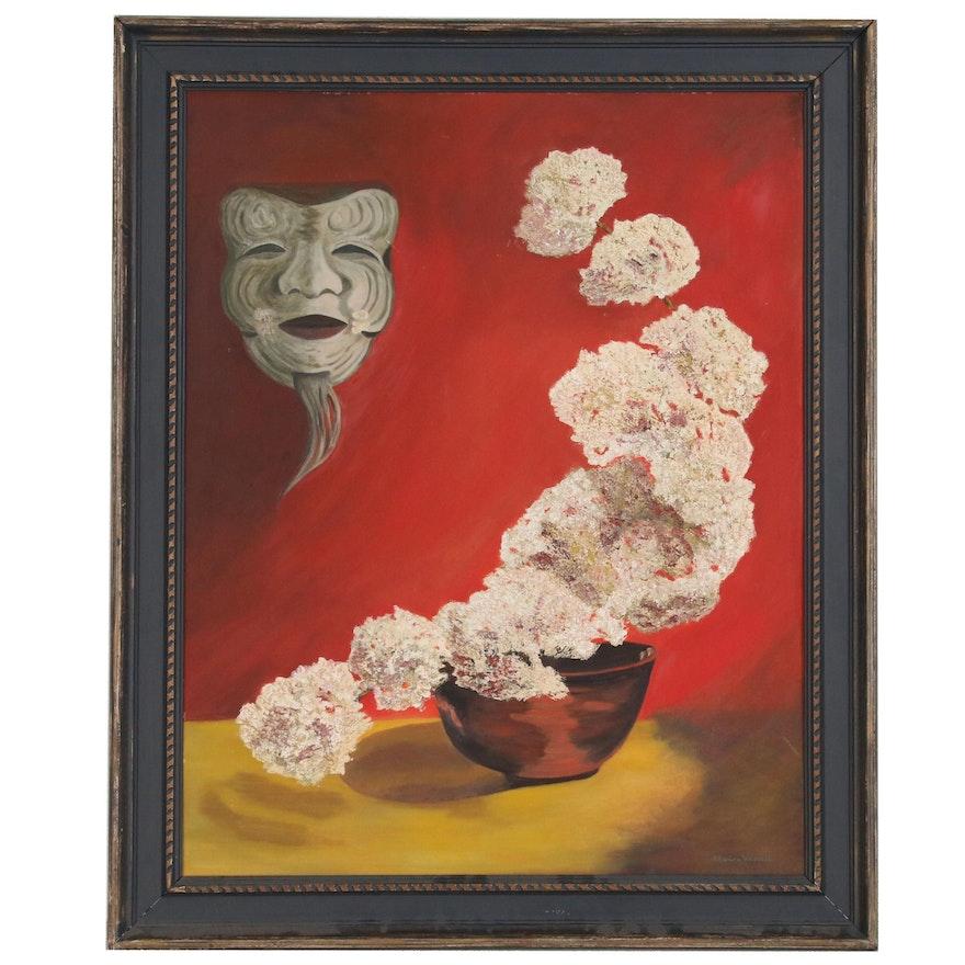 "Marian Hascall Still Life Oil Painting ""Okina"", Mid-20th Century"