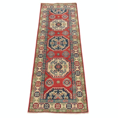 2' x 6'1 Hand-Knotted Afghani Persian Tabriz Runner Rug, 2000s