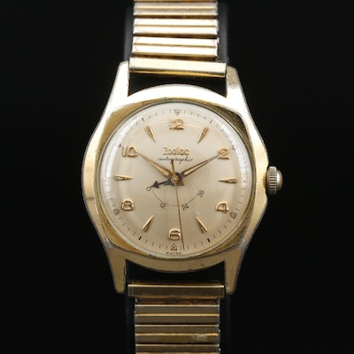 Swiss Zodiac Autographic Gold Plated Wristwatch
