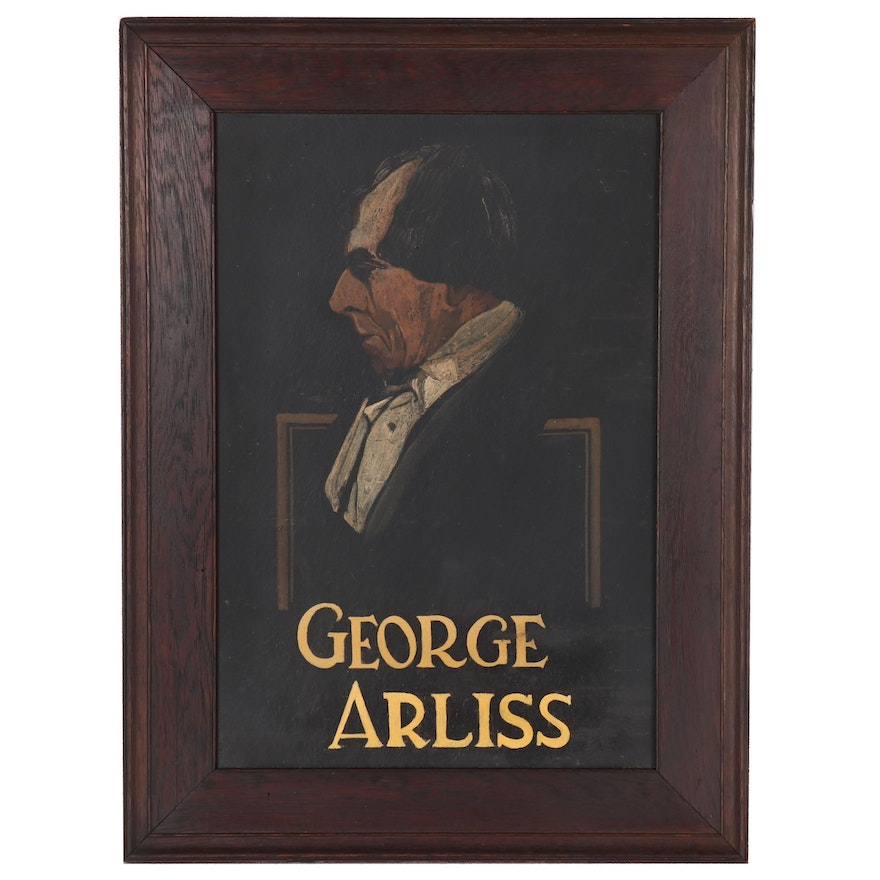"Portrait Oil Painting ""George Arliss"""