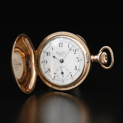 Antique U.S. Watch Co. Gold Filled Hunting Case Pocket Watch