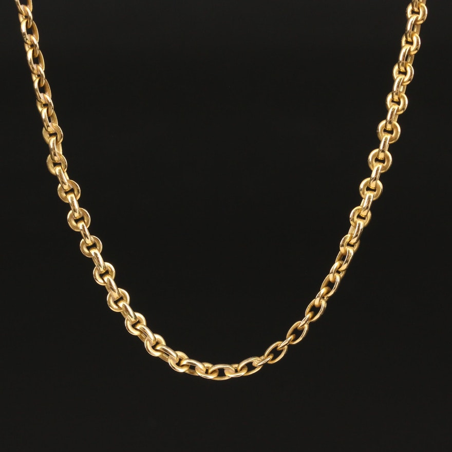Vintage Chanel 18K Chain Necklace