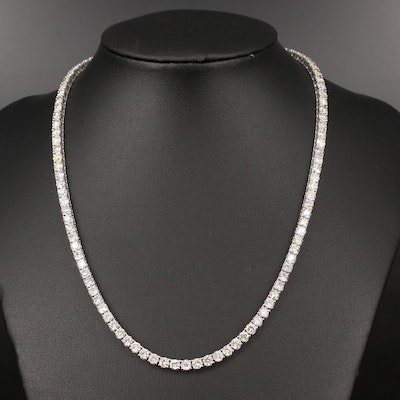 14K 22.90 CTW Diamond Riviére Necklace