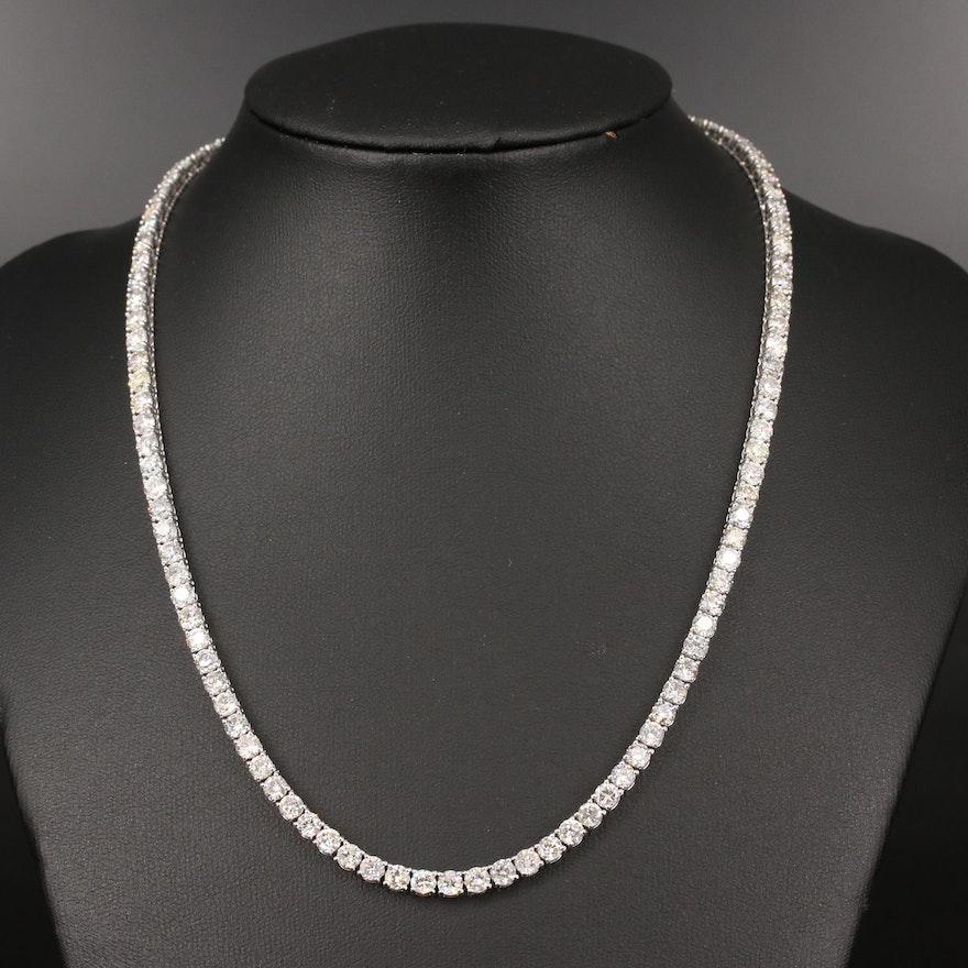 14K 22.90 CTW Diamond Riviére Necklace