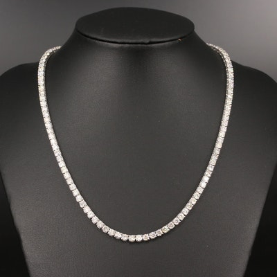 14K Diamond 16.67 CTW Rivière Necklace