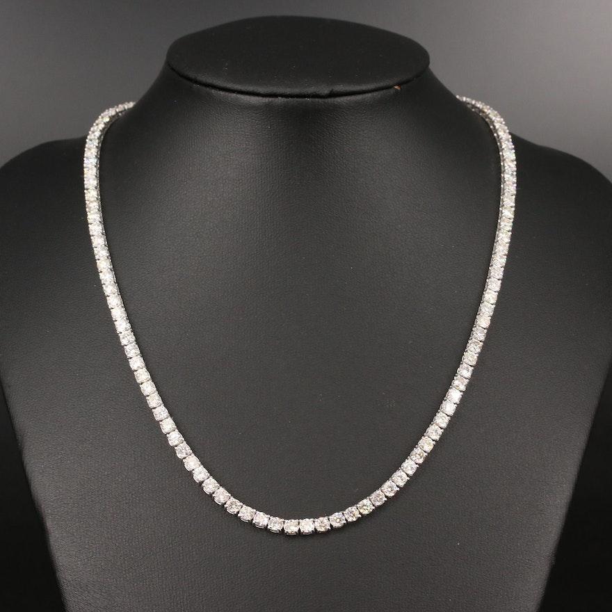 14K Diamond 16.67 CTW Rivière Necklace