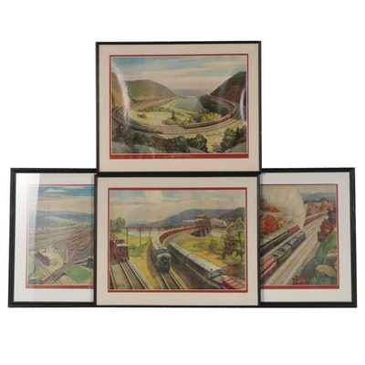 Offset Lithographs after Grif Teller of Pennsylvania Railroad