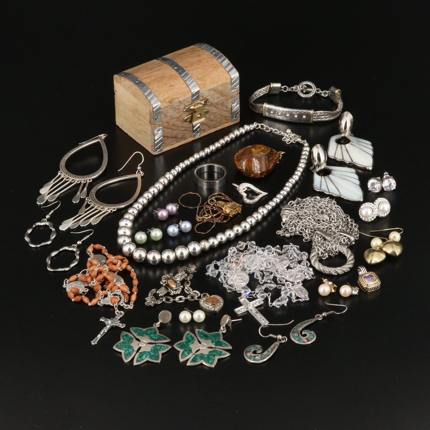 Jewelry Assortment with Sterling, Brighton and Danecraft