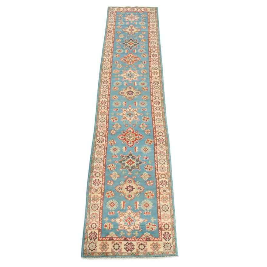 2'8 x 13'6 Hand-Knotted Afghani Persian Tabriz Runner Rug, 2010s