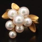 18K Pearl Grape Cluster Ring