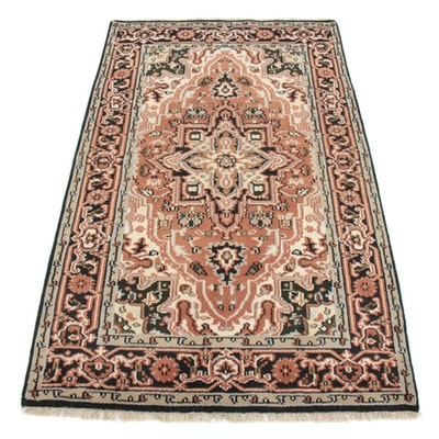 4'9 x 8'3 Hand-Knotted Indo-Persian Heriz Rug, 2010s