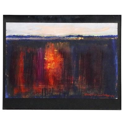 "Robert Lackney Acrylic Landscape Painting ""Awake to Tomorrow"", 21st Century"