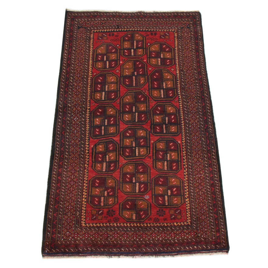 2'7 x 4'8 Hand-Knotted Persian Baluch Rug, 2000s