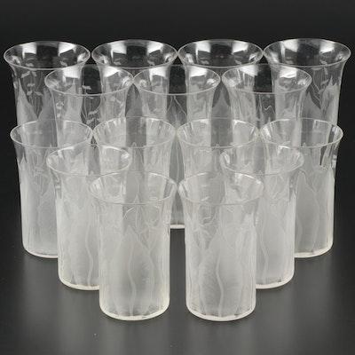 "Dorflinger Glass ""Kalana Lily"" Tumblers, Early 20th Century"
